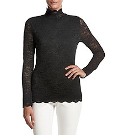 Vince Camuto® Mock Neck Lace Top