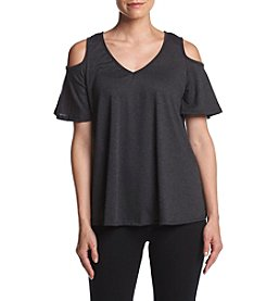 Bobeau® Solid Cold Shoulder Top