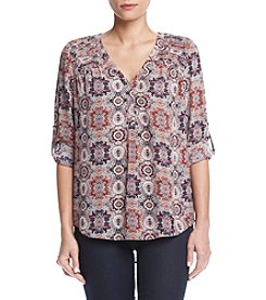 Black Rainn™ Printed Woven Blouse