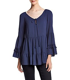 Spense® Tiered Peasant Top