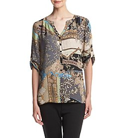 Spense® Mandarin Multi Print Top
