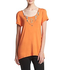 Melissa Paige Sharkbite Top With Necklace