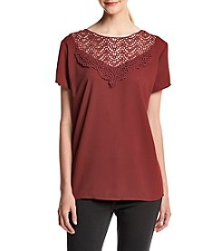 Adiva Lace Neck Top