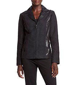 Studio Works® Petites' Embossed Lapel Jacket