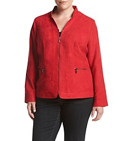 Studio Works® Plus Size Solid Color Inverted Notch Jacket