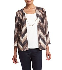 Alfred Dunner® Chevron Print Layered Look Knit Top