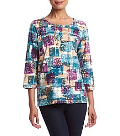 Alfred Dunner® Block Print Knit Top