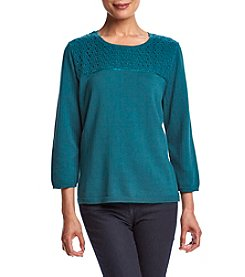 Alfred Dunner® Lace Trim Sweater