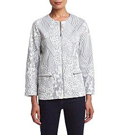 Alfred Dunner® Veneto Valley Patchwork Jacquard Jacket