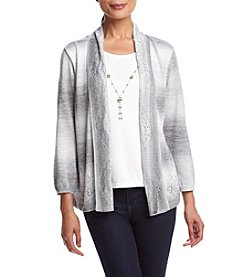 Alfred Dunner® Veneto Valley Pointelle Layered Look Sweater