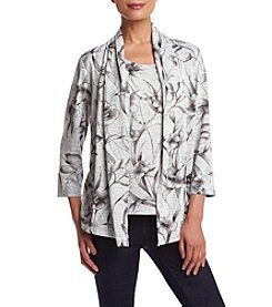 Alfred Dunner® Veneto Valley Floral Melange Layered Look Knit Top