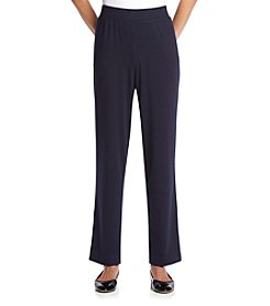 Alfred Dunner® Regular Length Slim Ponte Pants