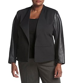 Calvin Klein Plus Size Faux Suede Open Jacket