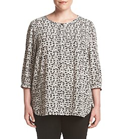 NYDJ® Plus Size Pleat Back Top