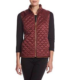 Rafaella® Petites' Solid Quilted Puffer Vest