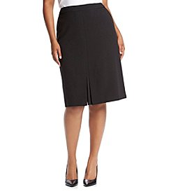 Kasper® Plus Size A-Line Stretch Crepe Skirt