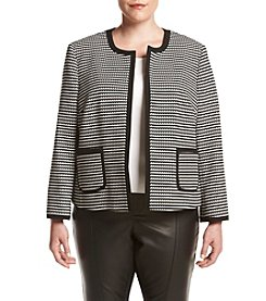 Nine West® Plus Size Striped Framed Jacket