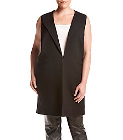 Nine West® Plus Size Long Open Front Vest