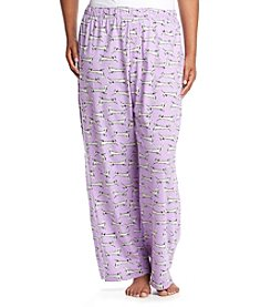 HUE® Plus Size Printed Pajama Pants