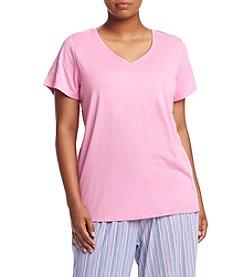 HUE® Plus Size V Neck Pajama Tee