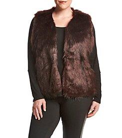 Ruff Hewn GREY Plus Size Fur Vest