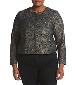 Ruff Hewn GREY Plus Size Quilted Jacquard Jacket