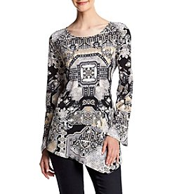 Oneworld® Printed Flared Sleeve Tunic