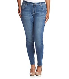 Earl Jean® Plus Size Chevron Bling Skinny Denim Jeans