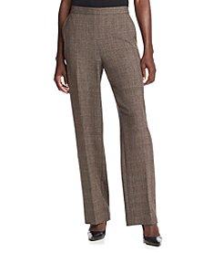 Studio Works® Petites' Plaid Menswear Cleanfront Pants