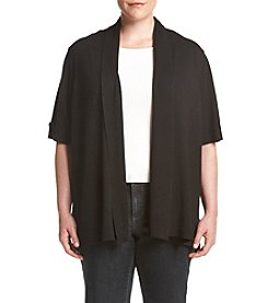 Relativity® Plus Size Solid Color Cardigan