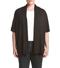 Relativity® Plus Size Solid Color Cardigan