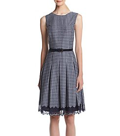 Tommy Hilfiger® Houndstooth Lace Dress