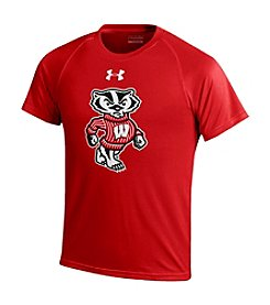 Under Armour® NCAA® Wisconsin Boys' 8-20 Bucky Short Sleeve Tee