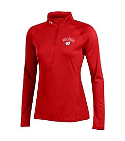 Under Armour® NCAA® Wisconsin Badgers Women's Space Dyed Half Zip Pullover