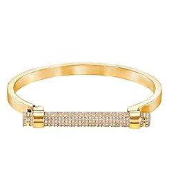 Swarovski® Goldtone Friend Bangle Bracelet