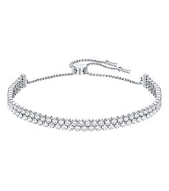 Swarovski® Silvertone Subtle Bracelet