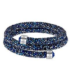 Swarovski® Silvertone Crystaldust Bangle Bracelet