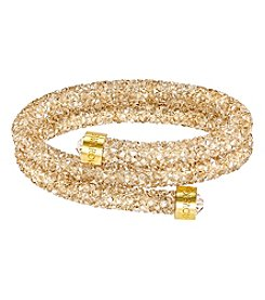 Swarovski® Goldtone Crystaldust Bangle Bracelet