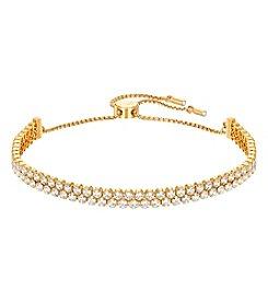 Swarovski® Goldtone Subtle Bracelet