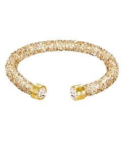 Swarovski® Goldtone Crystaldust Cuff Bracelet