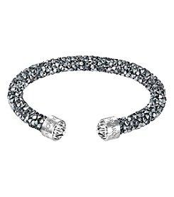 Swarovski® Silvertone Crystaldust Cuff Bracelet