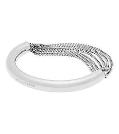 Michael Kors® Silvertone Draped Chain Bangle Bracelet