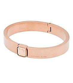 Michael Kors® Rose Goldtone Push Button Bangle Bracelet
