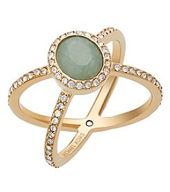 Michael Kors® Goldtone Semi Precious Jade Ring