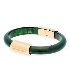Michael Kors® Goldtone Jade Green Acetate Magnetic Bangle Bracelet