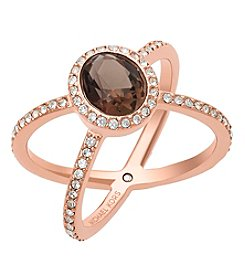 Michael Kors® Rose Goldtone Semi Precious Smoky Topaz Ring
