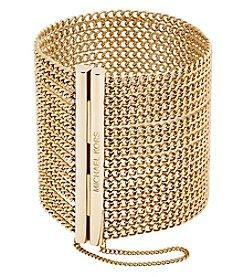 Michael Kors® Goldtone Cubic Zirconia Magnetic Bracelet