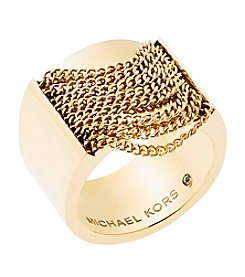 Michael Kors® Goldtone Draped Chain Ring
