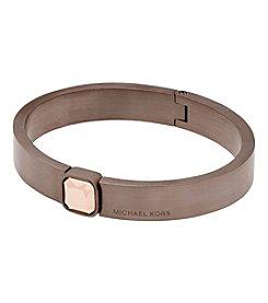 Michael Kors® Sable Tone Cubic Zirconia Push Button Bangle Bracelet