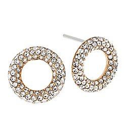 Michael Kors® Goldtone Pave Stud Earrings